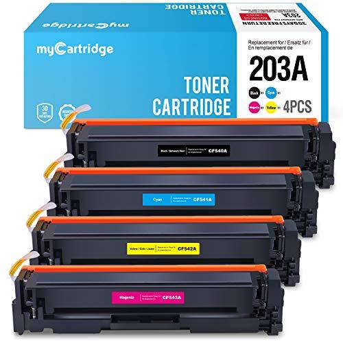 MyCartridge kompatibel HP 203A CF540A CF541A CF542A CF543A Toner für HP Color Laserjet Pro MFP M280nw M281fdn M281fdw HP Color Laserjet Pro M254nw M254dw (Schwarz/Cyan/Magenta/Gelb) -