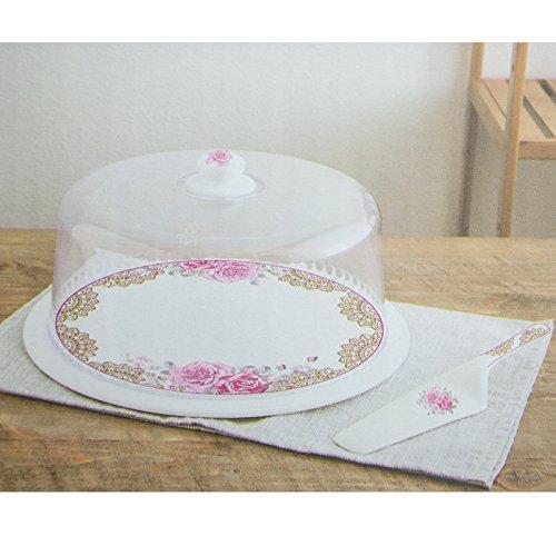 Récipient à tartes Hayat 3 pièces Boîte Hotte gâteau boîte à gâteaux Cloche à gâteau gâteaux gâteau motif 2