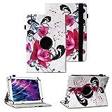Tablet Schutzhülle für Medion Lifetab P10610 P10603 P10606 P10602 X10605 X10607 X10311 P9702 X10302 P10400 P10356 P10325 P10326 P10506 P10505 Hülle Tasche Standfunktion 360° Drehbar Cover Case, Farben:Motiv 7