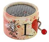 Boîte à musique à manivelle en carton renforcé - Hymne à l\'amour (Edith Piaf)