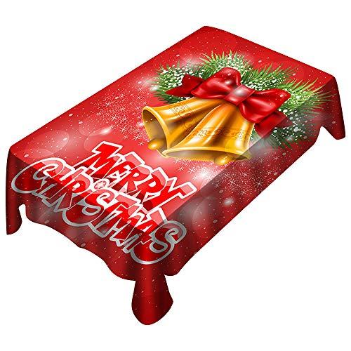 MAYOGO Neujahr&Weihnachen Tstischdecke,3D Drucken Tabelle Tisch Urlaub Party Home Decor Outdoor...