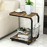 Folding table Z Mini Nachttisch Ecke Schreibtisch mit Rädern Mobile rotierenden Laptop Halterung Multifunktionstisch (51cm * 30cm * 56cm) Klapptisch (Farbe : C)