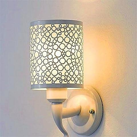 WEXLX Simple et élégant salon applique murale applique murale pour chambre Restaurant diamètre14cm hauteur25cm Lumière chaude