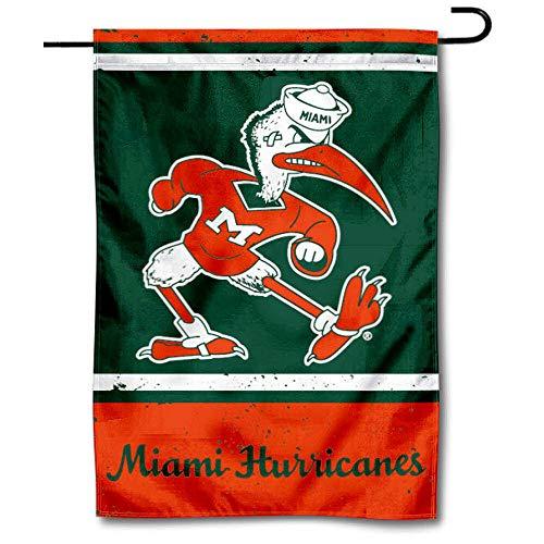 Wincraft Miami Canes Überwurfkissen, Vintage-Retro-Gartenflagge