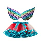 MoneycomEnfants Tutu Fête De Noël Danse Ballet Toddler Costume Jupe & Wing Sets Rouge(9-11 Ans)