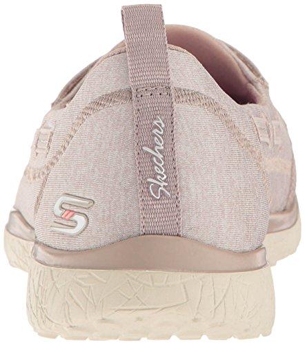 Skechers Microburst-Topnotch, Baskets Enfiler Femme Taupe