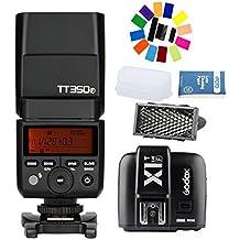 Godox TT350F 2.4G HSS 1/8000s TTL GN36 Camera Flash + Godox X1T-F TTL 2.4G 1/8000s HSS 32 Channels Flash Trigger Transmitter for Fuji DSLR Cameras
