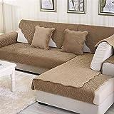 Liveinu Fleece Plüsch Warm Matte mit Anti-Rutsch Jacquard Sofaüberwurf Sesselschutz Spielmatte Japanischer Tatami Teppich Für Fußboden Sofa und Bett 70x150cm Braun