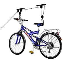 Cablematic - Soporte para colgar bicicletas del techo mediante poleas y cuerdas