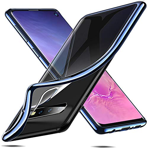 ESR Essential Crown Hülle kompatibel mit Galaxy Samsung Galaxy s10 Hülle - Klare weiche TPU Handyhülle - Dünne Schutzhülle mit Kameraschutz kompatibel für Samsung Galaxy S10 - Blua