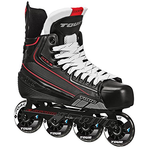 Tour Hockey Code 7 Senior Inline Hockey Skate, schwarz, 05