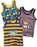 Vaenait baby Jungen Boys Unterhemd 3-Packung Top Undershirts Set Line Raser Robot S