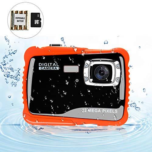 """BOMEON Unterwasser Kamera für Kinder Digitale Unterwasserkamera 12MP HD Action Sport Camcorder mit 2,0\"""" LCD Bildschirm Kinder Kamera 8X Digitalzoom Blitz Mikrofon und 8G SD-Karte Camcorder"""