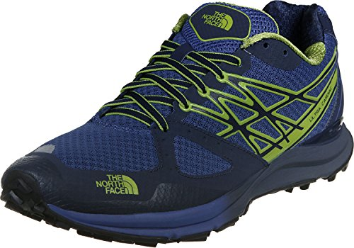 The North Face M Ultra Cardiac, Zapatillas de Running para Hombre, Azul (Cosmic Blue / Macaw Green), 44 1/2 EU