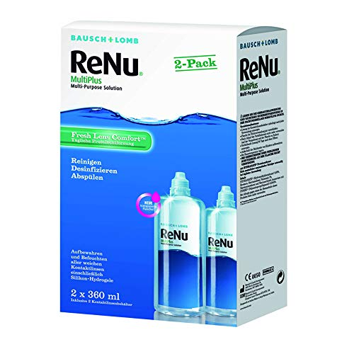 ReNu MultiPlus Pflegemittel für weiche Kontaktlinsen, Twin Box (2 x 360 ml)