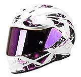 Scorpion EXO 510 Xena blanc/rose gonfler de casque de moto