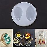 2 in 1 oval silikon mit lochform, diy harz anhänger schmuck machen form für handgemachte diy handwerk