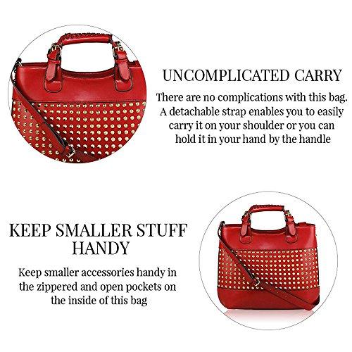 Trendstar Frauens Maxi Entwerfer Schulter Leder Taschen Stilvolle Shopper Handtaschen (X - Grau/Nude) Z - Rosa