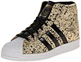 adidas Originals Women's Superstar Up W Fashion Sneaker, Gold/Black/White, 10 M US