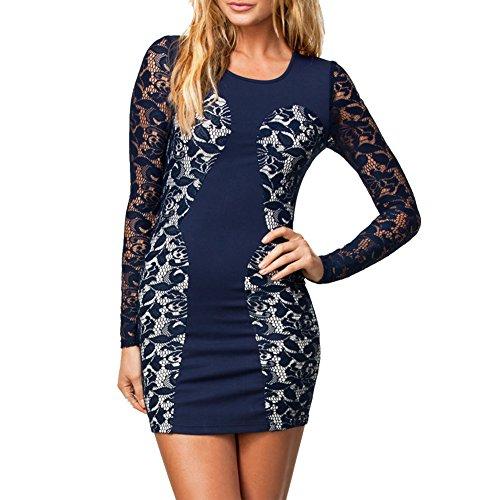 E-Girl femme Bleu SY21019 robe de cocktail Bleu