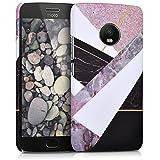 kwmobile Funda para Motorola Moto G5 Plus - Carcasa [Trasera] Protectora para móvil - Cover Duro con diseño de alabastro