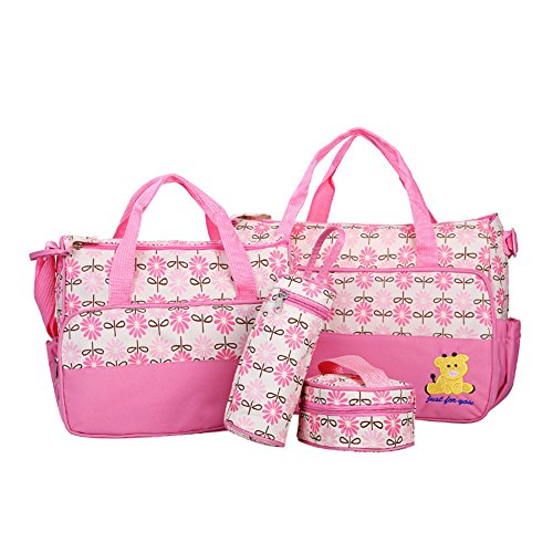 Kangming Multifunktions Baby Wickeltasche Set Krankenhaus-Tasche Mama Handtasche rose