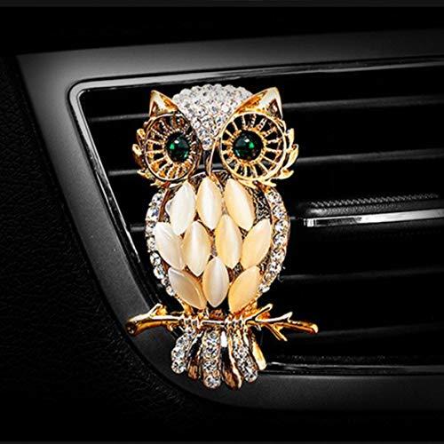 Noradtjcca Presa Auto Profumo Aria condizionata per Auto Morsetto Deodorante Purificatore Diffusore di sfiato Automatico Mini fragranza Forma di Gufo