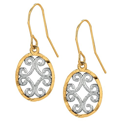 10k-2-tone-yellow-and-white-gold-oval-shape-drop-earrings-with-millgrain