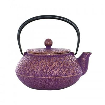 Théière en fonte japonaise 7 trésors - violette