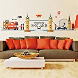 HWJ Wandtattoos Schlafzimmer England-Art-Stadt-Gebäude Big