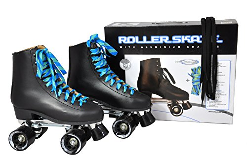 Nijdam Unisex Leder Retro Rollerskates