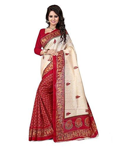 Trendz Bhagalpuri Cotton Silk Saree(TZ_Barat)  available at amazon for Rs.399