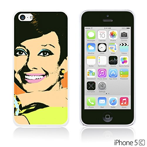 OBiDi - Celebrity Star Hard Back Case / Housse pour Apple iPhone 5C - Beautiful Queen Elizabeth II Audrey Hepburn Pop Art
