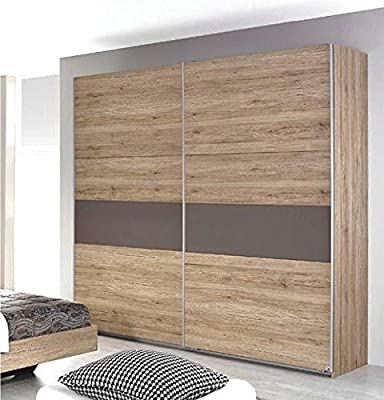 Rauch Almada 175cm Sliding Door Wardrobe in a Sonoma Oak With Lava Grey Detailed Finish. Bed & Bedsides are NOT Included*****LOW INTRODUCTORY PRICE OF £269***** - low-cost UK light store.