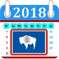 Wyoming Calendar 2018 Holiday