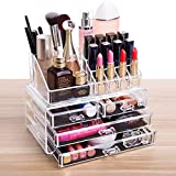 Fobuy Acrylique Transparent Organisateur Maquillage 4 Tiroirs acrylique transparent...