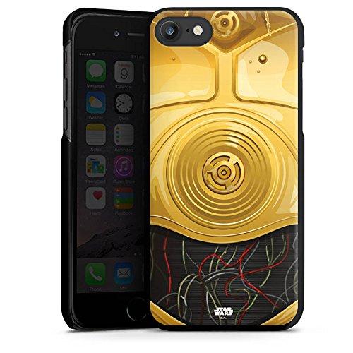 Apple iPhone X Silikon Hülle Case Schutzhülle Star Wars Merchandise Fanartikel C3PO Hard Case schwarz