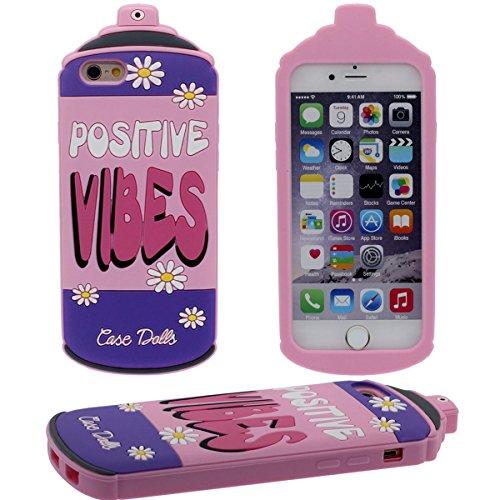 3D Silicone Gel Bitch Spray Bouteille Modélisation iPhone 6 Coque Case ( Cyan ) Souple, Housse de Protection pour Apple iPhone 6S 4.7 pouce Anti choc Coque de protection Prime Rose