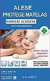 Alése protège-matelas Imperméable Anti-Acariens Anti-Allergique (140X190) Idéal incontinence ref 1015