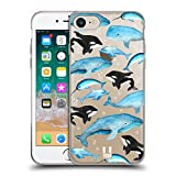 Head Case Designs Whales Watercoloured Sea Life Soft Gel Case Compatible for iPhone 7 / iPhone 8