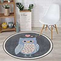 CKH Cartoon Cute Love Owl Animal Round Mat Bedroom Clothing Store Photo Round Basket Basket Cloakroom Home Computer Chair Cushion