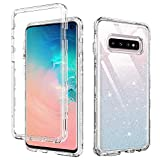 DUEDUE Samsung Galaxy S10 Case, Clear Cover Heavy Duty 3 in