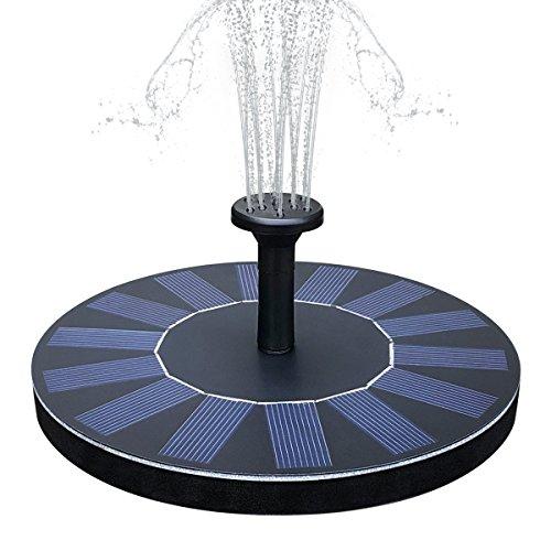 Yaogroo Solar Brunnen, solarbetriebene Wasserfontäne Pumpen Panel Kit Outdoor Tauchpumpe für Teich, Pool, Patio, Aquarium, Fish Tank - Pumpe Teich Solarbetriebene
