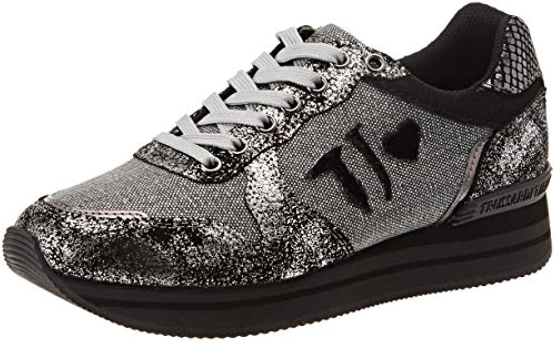 Trussardi Jeans Running Patch Logo, Tj Logo, Patch Chaussures de Gymnastique Femme d658d7