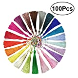 Produkt-Bild: ULTNICE 100 STÜCKE Dekorative Mini Quasten Silk Quasten für Souvenir Geschenk Tag 20 Farben random