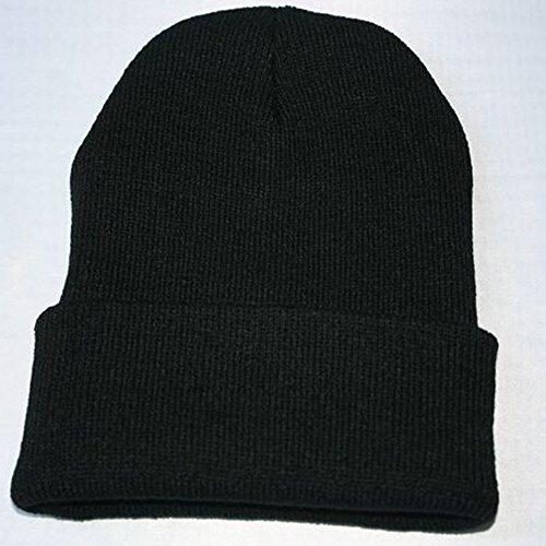 HAOLIEQUAN Unisexe Slouchy Tricot Bonnet Hip Hop Cap Hiver Chaud Ski Chapeau d'hiver Chapeaux pour Hommes Tricoté Chapeau Mâle en Plein Air Mode Slouchy Caps