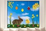 Hochwertige Pixblick Fenstersticker - Ostern XL Set