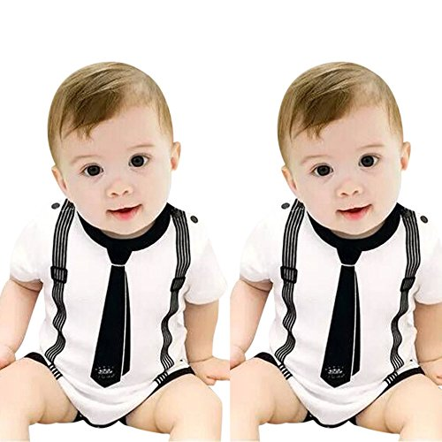 Knowin Sommer Schön Baby Body Kurzärmlige Robe mit Babyanzug Kleinkind Kinder Baby Mädchen Boy Print Kleidung Casual Strampler Overall Overall Geeignet für den Alltag, Party - Wikinger Kleinkind-shirt