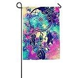 Dozili-Flagge, Bunte Welt-Dekoration, Garten-Flagge, wetterfest und doppelseitig, Polyester, bunt, 28