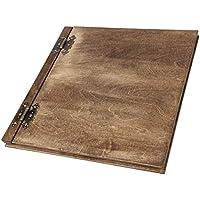 Legno album con il bianco scatola interna 25 foglie XXL il nostro più grande album fotografico in